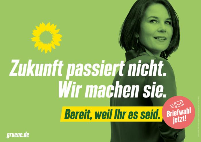 Bündnis90/Die Grünen Plakat Bundestagswahl 2021 – Zukunft