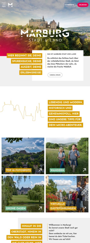 Marburg Tourismus – Website, Quelle: Marburg Tourismus