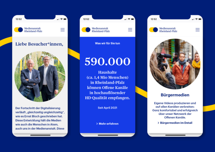 Medienanstalt Rheinland-Pfalz – Website Mobile, Quelle: Medienanstalt Rheinland-Pfalz