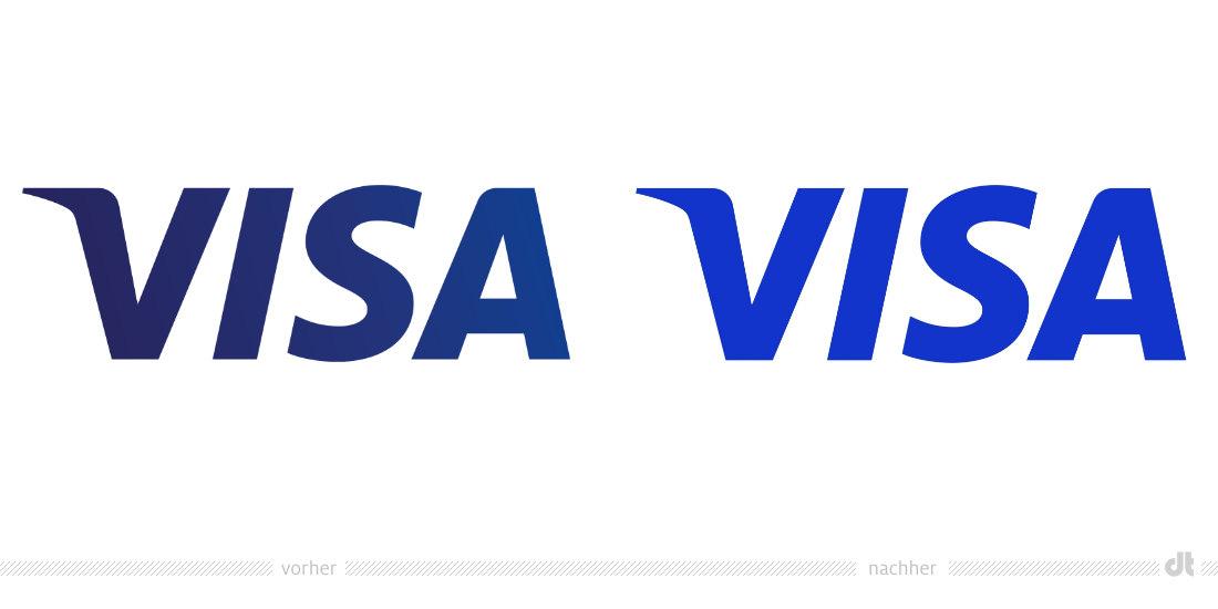 Visa Logo – vorher und nachher – Design Tagebuch