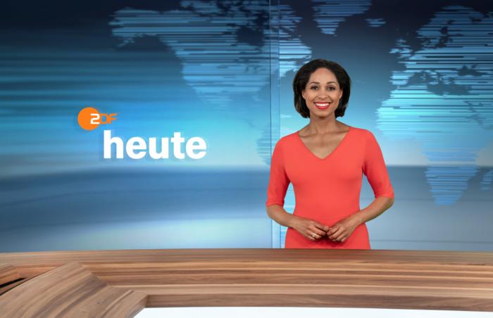 ZDF-Nachrichtenstudio im neuen Design – Jana Pareigis