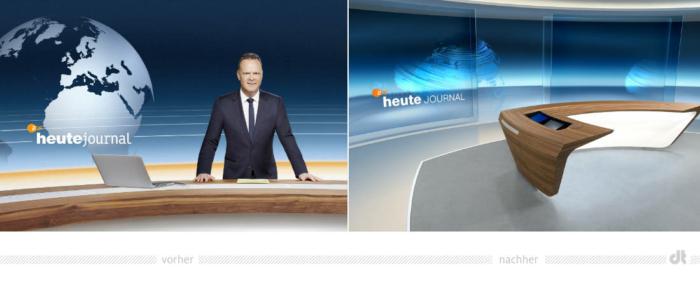 ZDF-Nachrichten heute journal – vorher und nachher