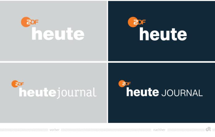 ZDF-Nachrichten Logos heute und heute journal – vorher und nachher