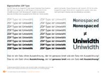 """""""ZDF Type"""" – Hausschrift des ZDF, Eigenschaften"""