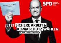 SPD Plakat Bundestagswahl 2021 – Sichere Arbeit