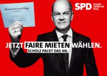 SPD Plakat Bundestagswahl 2021 – Faire Mieten