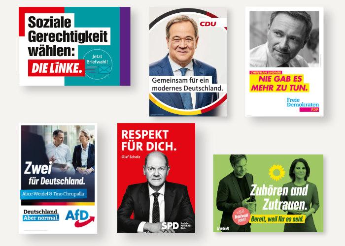Bundestagswahl 2021 Wahlplakatkampagnen