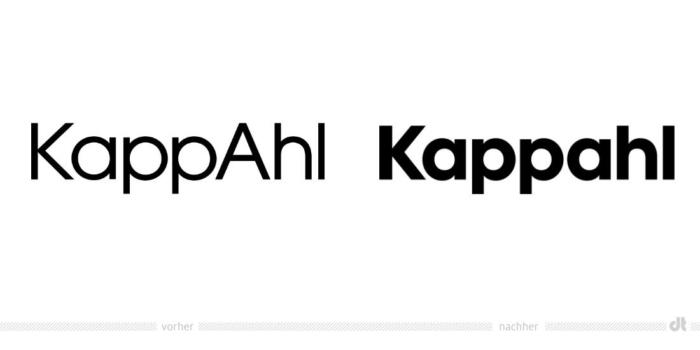 Kappahl Logo – vorher und nachher