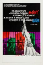 Marat Sade Filmposter – entworfen von Joe Caroff