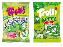 Trolli Apfelringe – vorher und nachher, Bildquelle: Trolli, Bildmontage: dt