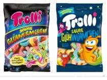 Trolli Saure Glühwürmchen – vorher und nachher, Bildquelle: Trolli, Bildmontage: dt