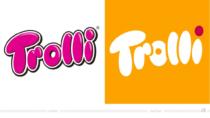 Trolli Logo – vorher und nachher, Bildquelle: Trolli, Bildmontage: dt