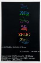 Zelig Filmposter – entworfen von Joe Caroff