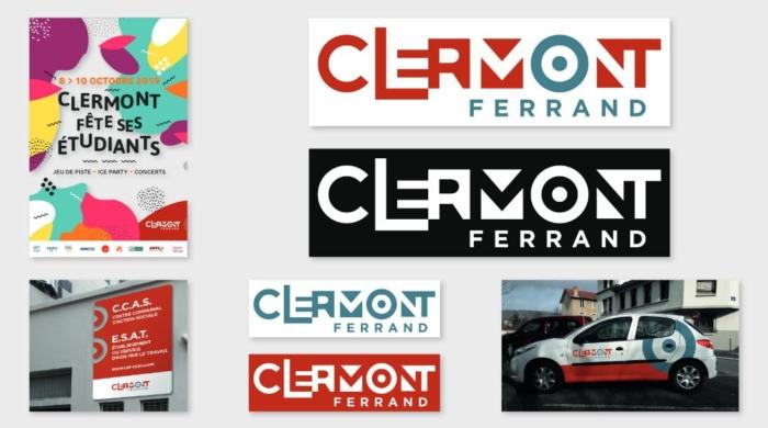 Clermont-Ferrand Logo Entwurf 2 Visual