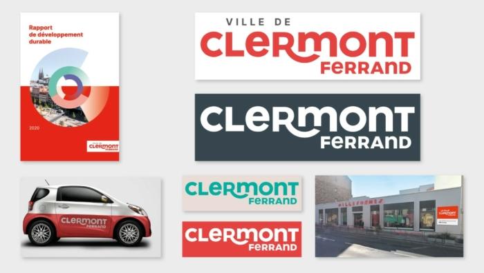 Clermont-Ferrand Logo Entwurf 3 Visual