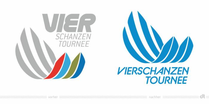 Vierschanzentournee Logo – vorher und nachher