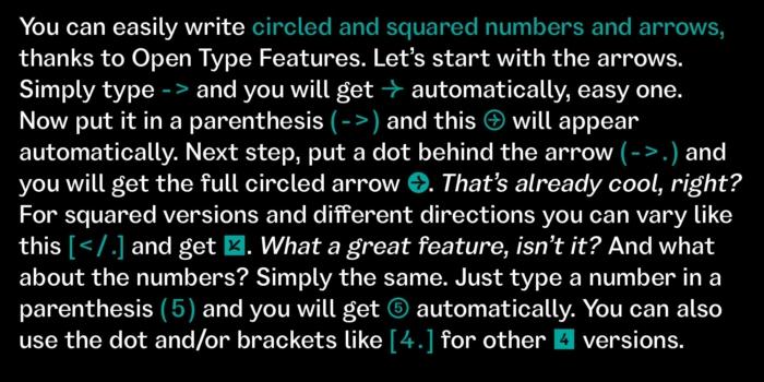 GARINO Numbers / Arrows