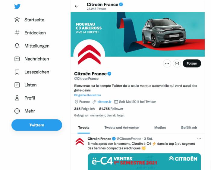 Citroen France Twitter
