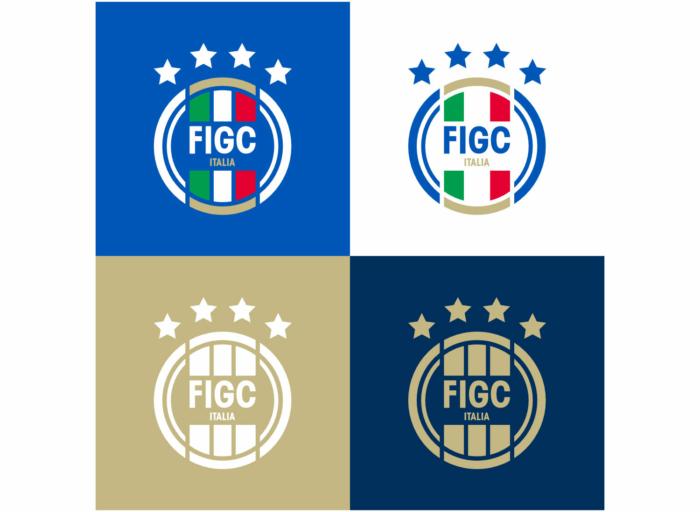 FIGC Logo Varianten, Quelle: FIGC
