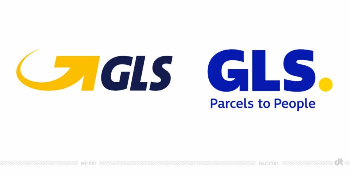 GLS Logo – vorher und nachher