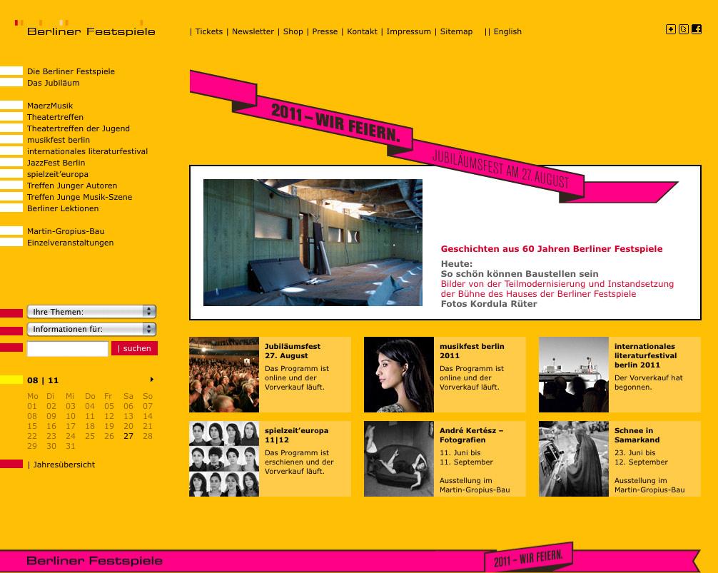 Berliner Festspielede Bis 2011 Design Tagebuch