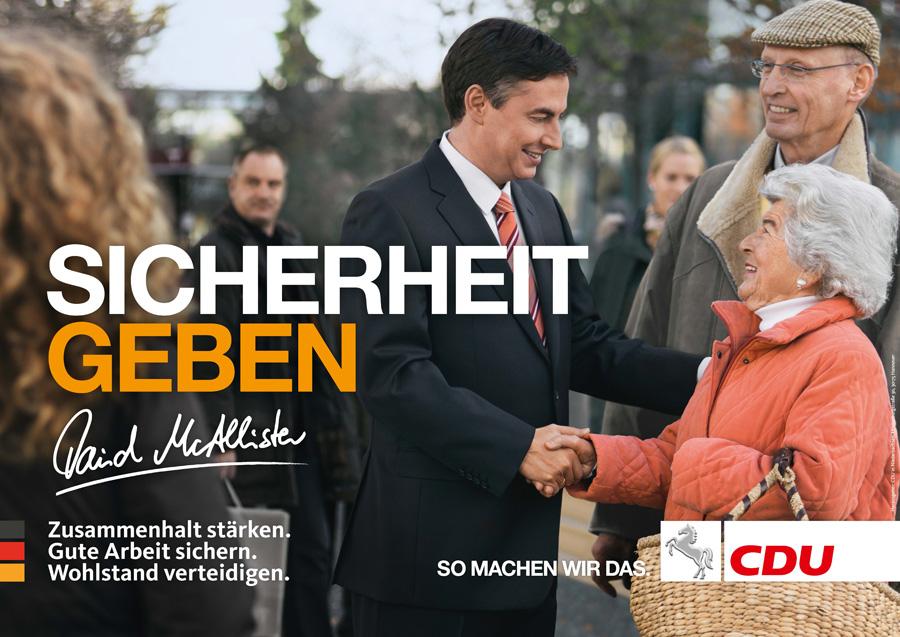 CDU Wahlplakat zur Landtagswahl 2013 in Niedersachen