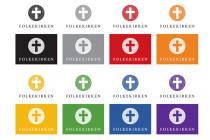 Dänische Volkskirche (Folkekirken) – Logo Farbvariante