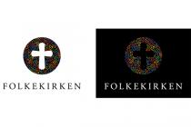 Dänische Volkskirche (Folkekirken) – Logo regenbogenfarben
