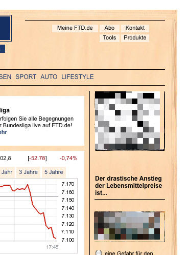 FTD.de – Zeitung im Hintergrund