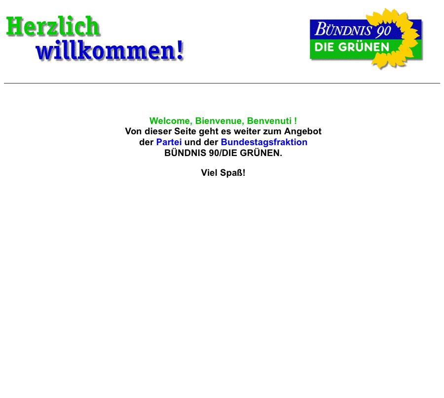 Gruene.de – 1996