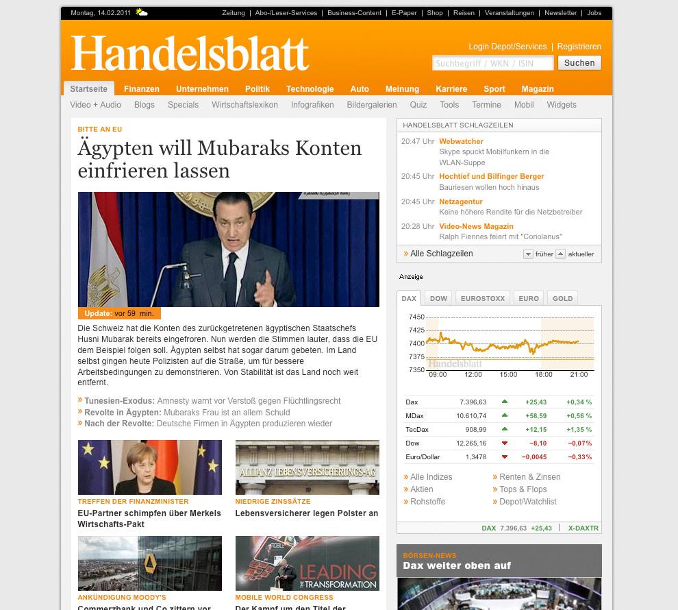 Handelsblatt.com bis 02/2011