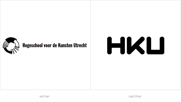 HKU Logos - vorher und nachher