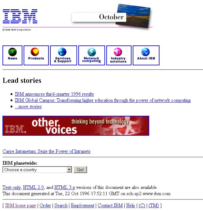 IBM.com – 1996