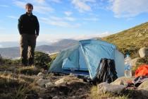 Zelt aufstellen auf 1.780m am Col de Luana – GR 20
