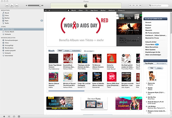 iTunes 10 Interface