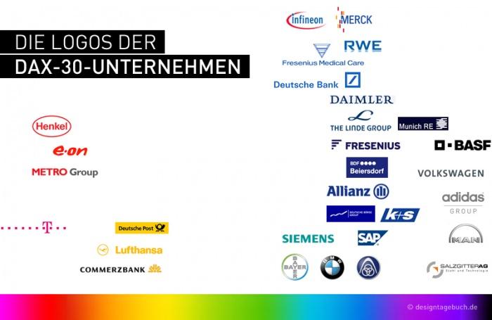 Logos der DAX-30-Unternehmen