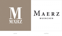 MAERZ/MÄRZ Logos - vorher und nacher