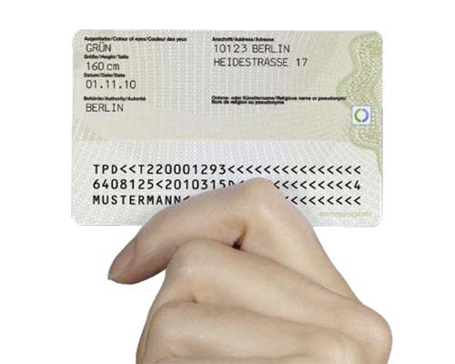 Neuer Personalausweis – Rückseite