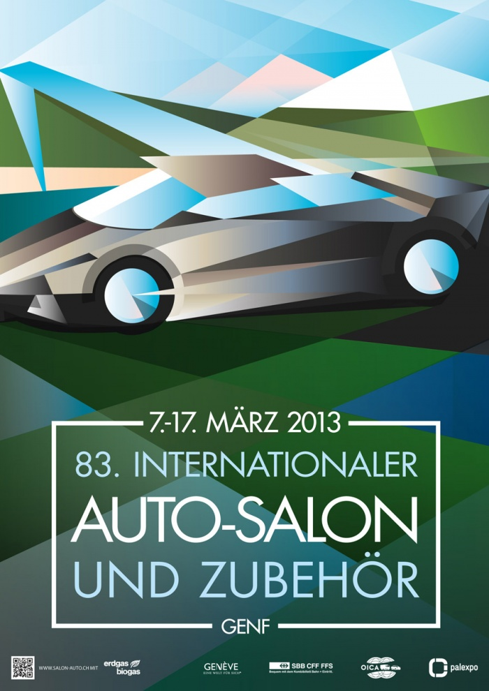Plakat zum 83. Auto-Salon in Genf