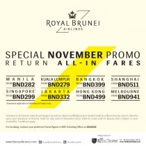 Royal Brunei – Promo Design