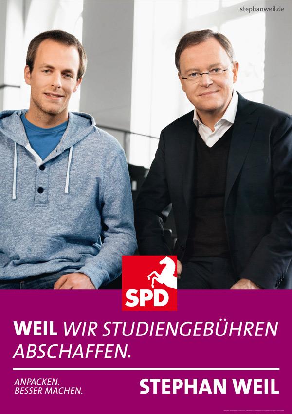 Wahlplakat zu Landtagswahl 2013 in Niedersachsen – SPD