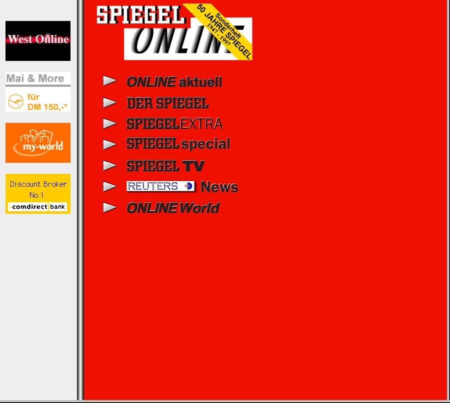 SPIEGEL.de – SPIEGEL online 1997