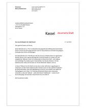 Stadt Kassel – Anwendungsbeispiel Briefpapier