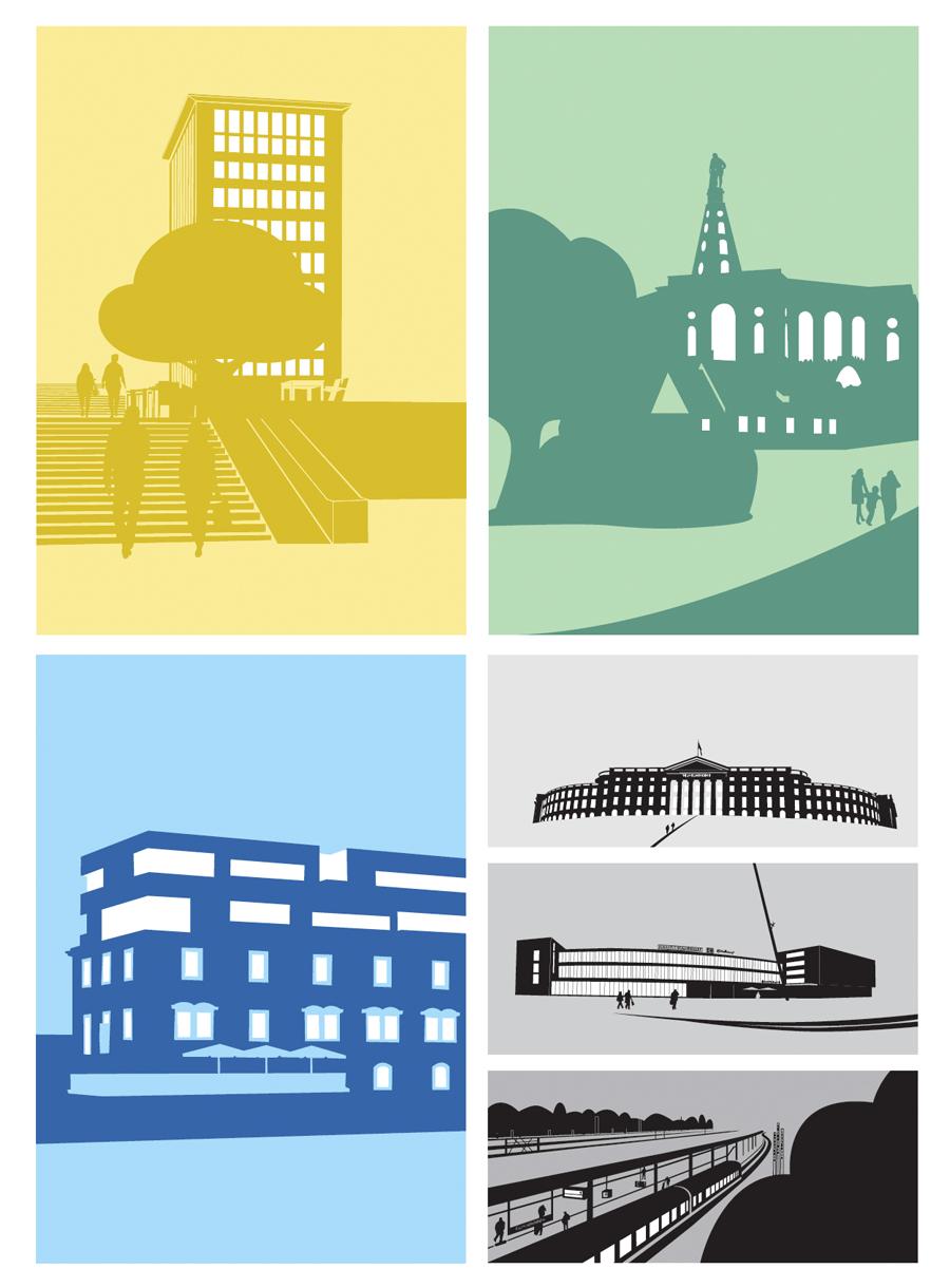 Stadt Kassel – Farbkonzept, Anwendungsbeispiele
