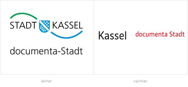 Stadt Kassel Logo – vorher und nachher