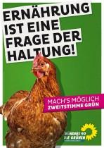 Wahlplakat zu Landtagswahl 2013 in Niedersachsen – Die Grünen