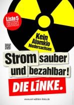 Wahlplakat Die Linke - Strom sauber und bezahlbar!