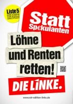 Wahlplakat – Die Linke