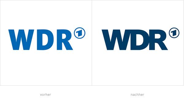WDR Logo – vorher und nachher
