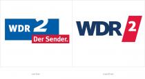 WDR2 Logo – vorher und nachher